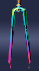 anodized front fork