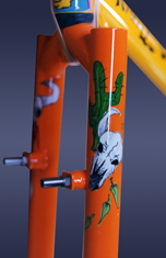 desert custom bicycle hand painted art