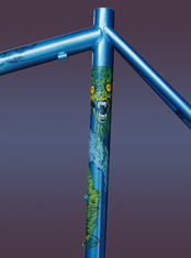 green monster custom hand-painted bicycle art