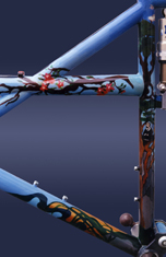 ninja illustration custom bicycle art